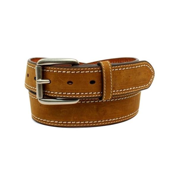 Ariat Western Belt Mens Plain Strap Double Stitched Edges
