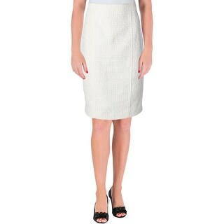 Anne Klein Womens Pencil Skirt Tweed Textured