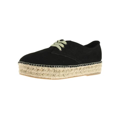 Steven By Steve Madden Womens Phylicia Espadrilles Suede Platform