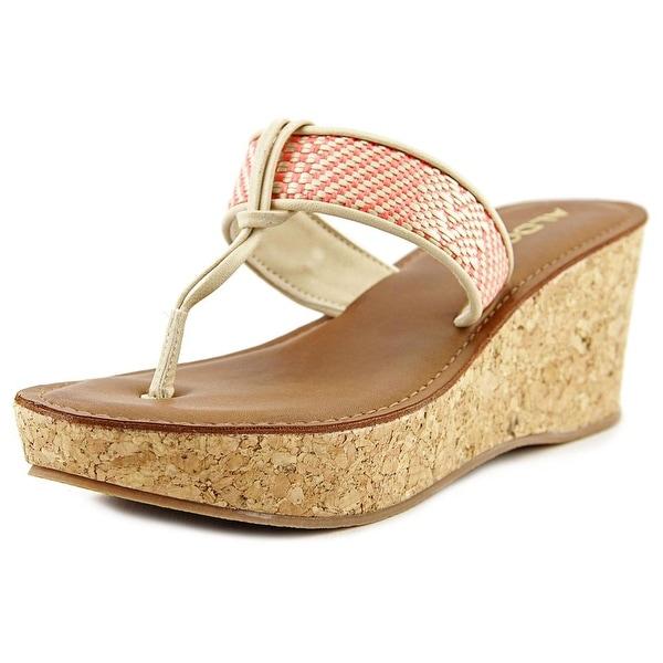 Aldo Afeliwiel Women Open Toe Synthetic Orange Wedge Sandal