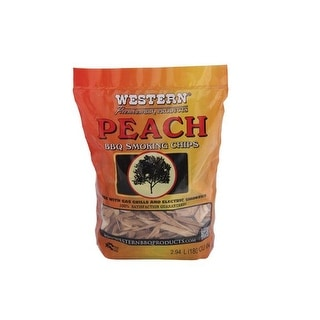 Western 28070 Peach BBQ Smoking Chips, 2 lbs