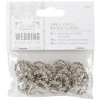 Papermania Ever After Wedding Buckle Ribbon Sliders 25/Pkg-Circle