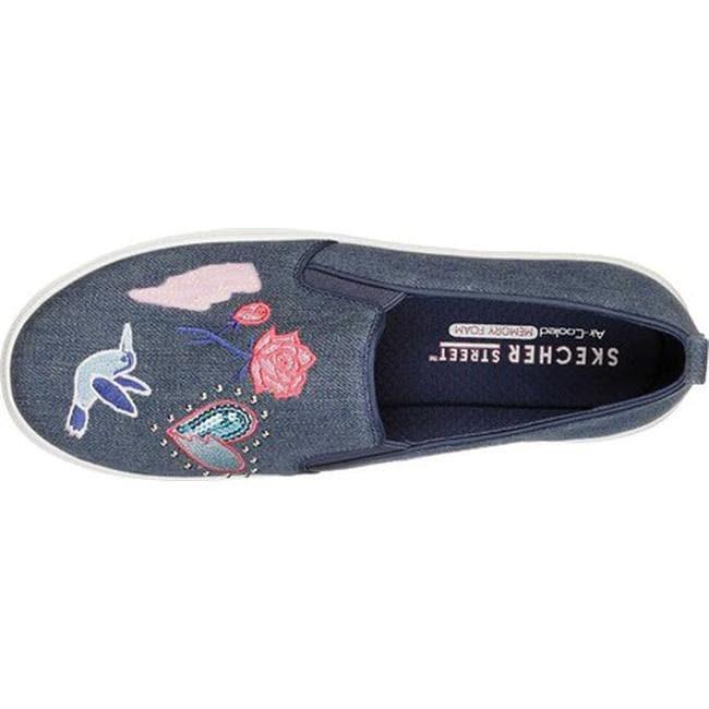 6df2c7bea554 Shop Skechers Women s Double Up Denim Dancer Platform Sneaker Denim - Free  Shipping Today - Overstock - 20488620