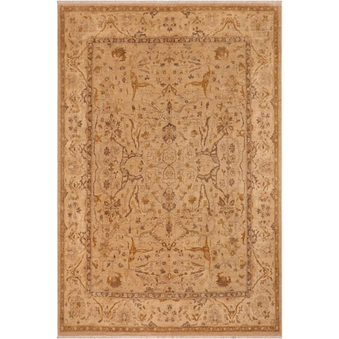 Bohemian Sun faded Corrine Tan/Beige Hand knotted Rug - 7'11 x 9'9 - 7 ft. 11 in. X 9 ft. 9 in.
