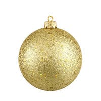 "Vegas Gold Shatterproof Holographic Glitter Christmas Ball Ornament 8"" (200mm)"