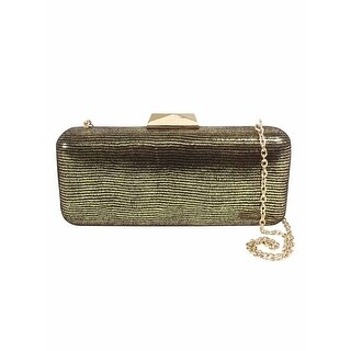 INC International Concepts Jayde Clutch, Gold - One size