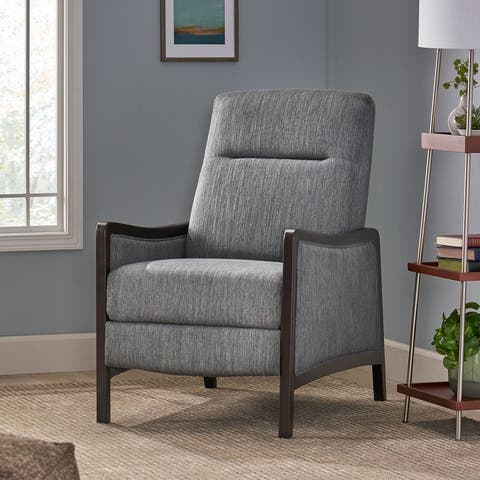 Veatch Contemporary Upholstered Pushback Recliner by Christopher Knight Home