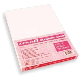 """X-Press Blending Card 8.5""""X11"""" 125/Pkg-White"""