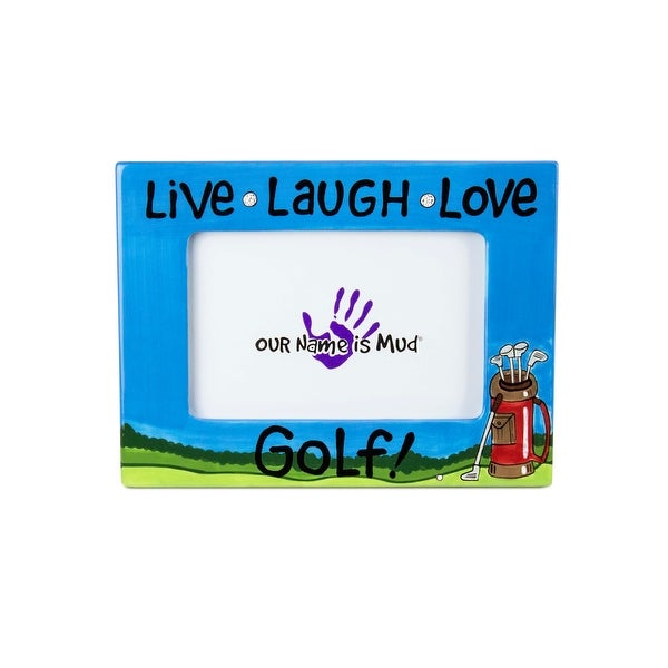 Shop Our Name is Mud Live, Laugh, Love Golf Picture Frame - Free ...