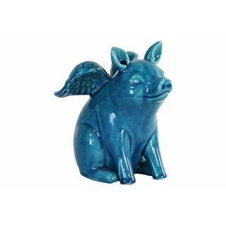Shop Ceramic Sitting Fox Figurine With Tail Folded Towards