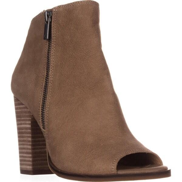 Lucky Brand Lamija Peep-Toe Ankle Booties, Sesame - 8.5 us / 38.5 eu