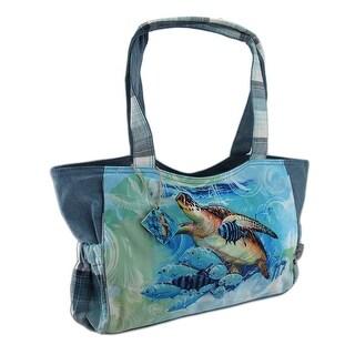 Guy Harvey Live Blue Turtle Medium Scoop Handbag