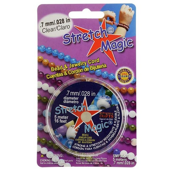 Stretch Magic Clear Stretchy Cord .7mm/.028 Inch Width - 5 Meters