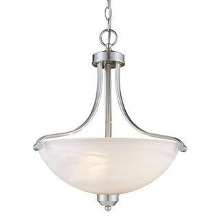 Minka Lavery ML 1426-PL 3 Light Indoor Bowl Shaped Pendant from the Paradox Energy Efficient Collection