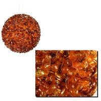 "Lavish Orange Fully Sequined & Beaded Christmas Ball Ornament 3.5"" (90mm)"