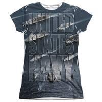 US Navy Fleet (Front Back Print) Juniors Sublimation Shirt
