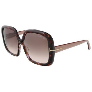 Tom Ford FT0389/S 50F Valeria Purple Tortoise Square Sunglasses