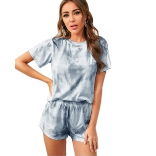 Link to Haute Edition Tie Dye T-Shirt and Shorts Matching Lounge Set with Plus Similar Items in Loungewear