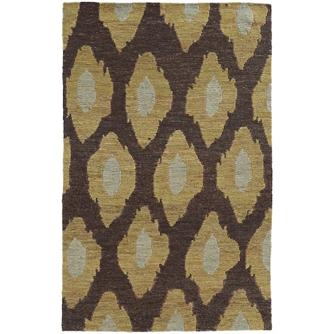 Tommy Bahama Valencia Abstract Design Brown/Gold Area Rug