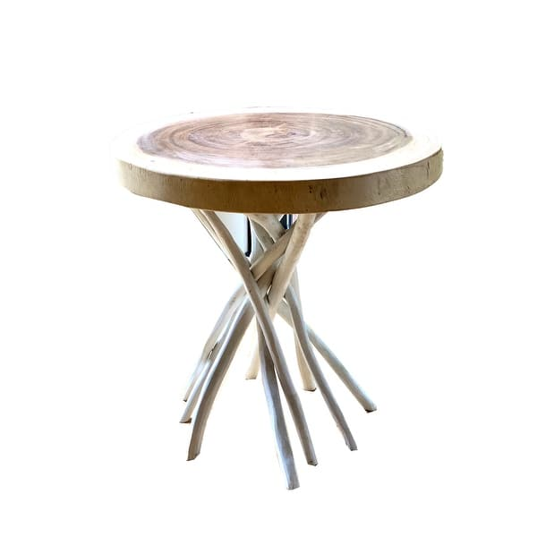 Stanley Solid Wood Outdoor Patio Side Table Overstock 31414826