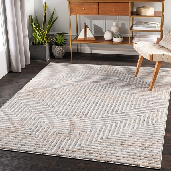 Landis Striped Glam Area Rug. Opens flyout.