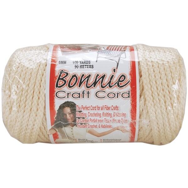 Bonnie Macrame Craft Cord 6mmX100yd-Flesh (Cream) - beige
