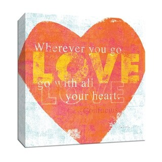"""PTM Images 9-152260  PTM Canvas Collection 12"""" x 12"""" - """"Letterpress Love"""" Giclee Sayings & Quotes Art Print on Canvas"""