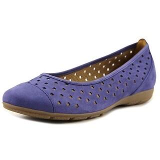 Gabor 84169 Women  Cap Toe Leather Blue Flats