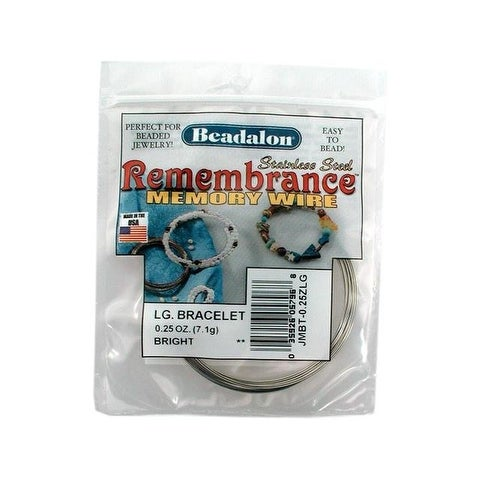 Beadalon Memory Wire Bracelet Lg Bright .25oz