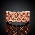X Marks The Spot Rose Gold Ring - Thumbnail 1