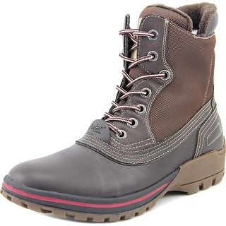 Pajar Baird Men Round Toe Leather Brown Snow Boot