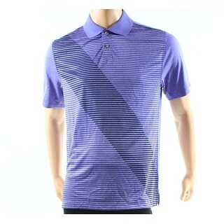 Greg Norman NEW Purple Mens Size Small S Striped Wicking Polo Shirt