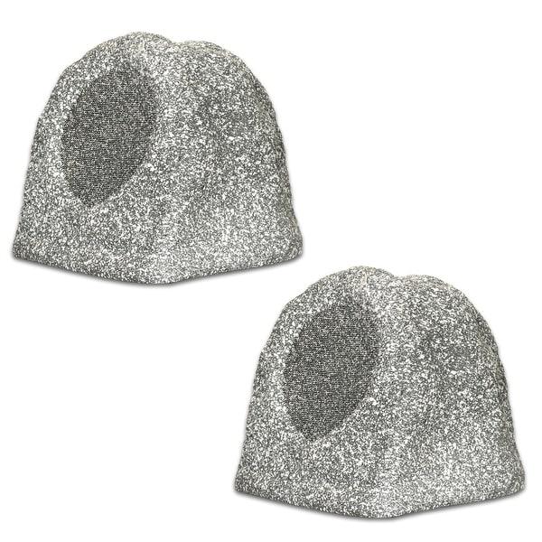 Acoustic Audio RS6GG-PR Granite Rock Speaker Pair Outdoor Weatherproof Speakers
