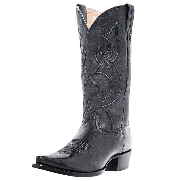 Dan Post Western Boots Mens Bexar Cowboy Black Saddle Brand