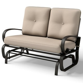 Link to Costway Glider Outdoor Patio Rocking Bench Loveseat Cushioned Seat Similar Items in Patio Furniture