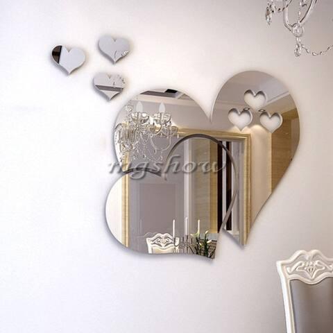 Three-Dimensional Stereoscopic Heart-Shaped Wall Sticker