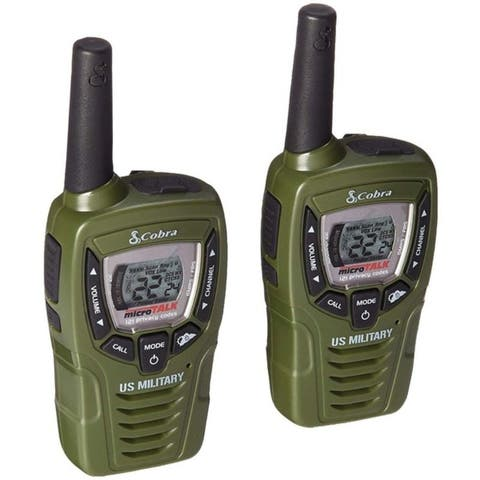 Cobra CX398A CXT332 25-Mile 2-Way Radios/Walkie Talkies (Green)