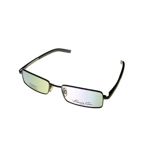Kenneth Cole Mens Opthalmic Eyeglass Frame Gunmetal Rectangle Metal KC111 753 - Medium