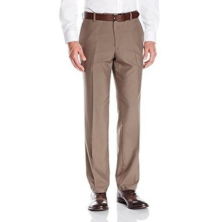 Kenneth Cole Reaction Mens Tic Weave Slim Fit Dress Pants