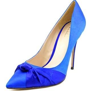 Nicole Miller Jeffrey Women Pointed Toe Canvas Heels