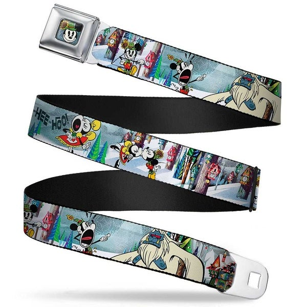 Yodelberg Mickey Full Color Mickey & Minnie Yodelberg Scenes Webbing Seatbelt Belt