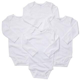 Carter's Baby Unisex 4-pk. White Bodysuit Set Long Sleeve (18 months)