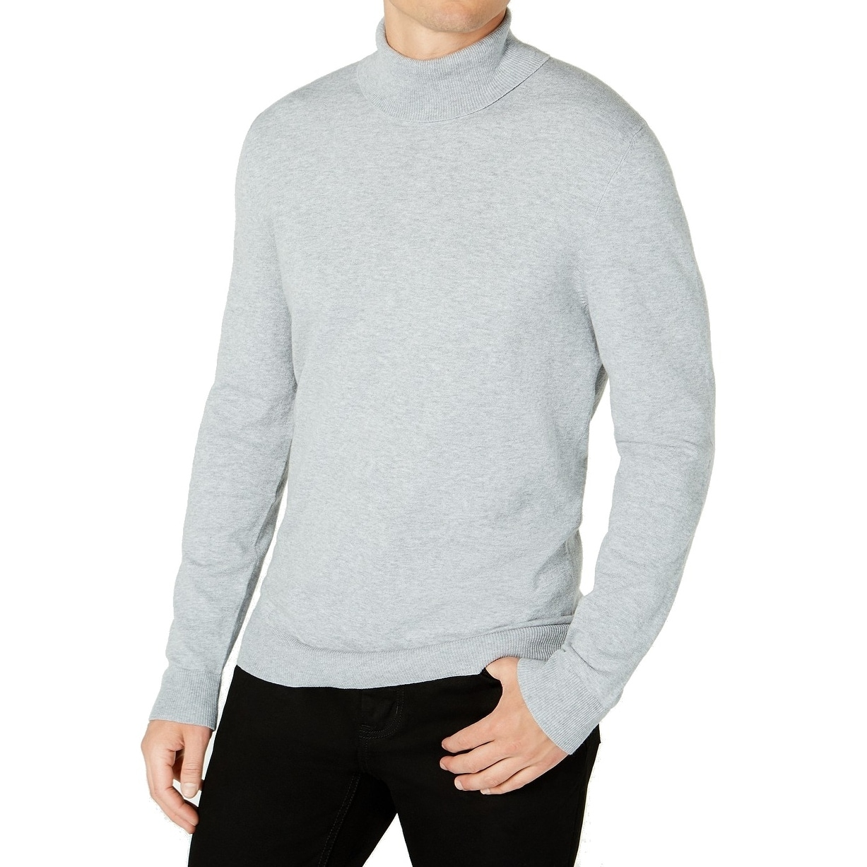 Alfani Mens Striped-Sleeve Knit Sweater