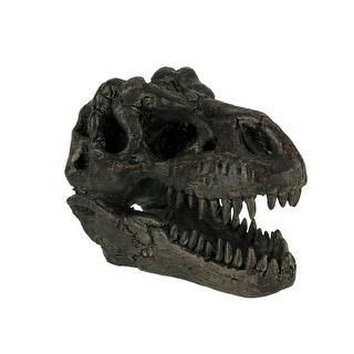 Tyrannosaurus Rex Dinosaur Head Fossil Statue Small - 4 X 5.75 X 3 inches