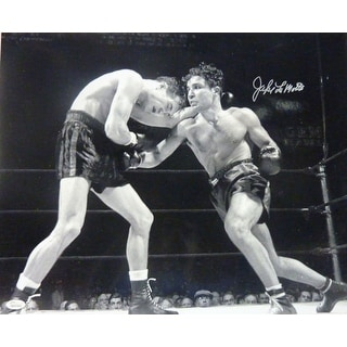 Jake LaMotta Autographed Boxing 16x20 photo wJSA