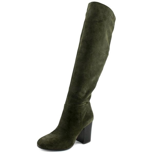 Vince Camuto Sabana Women Round Toe Suede Green Knee High Boot