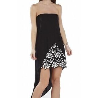 BCBG Max Azria NEW Black Womens Size 10 Krystin Asymmetrical Hem Dress $368 #485