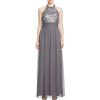 JS Boutique Womens Special Occasion Dress Sequined Crepe