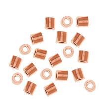 Real Copper Crimp Beads 2 x 2mm (50 Crimps)