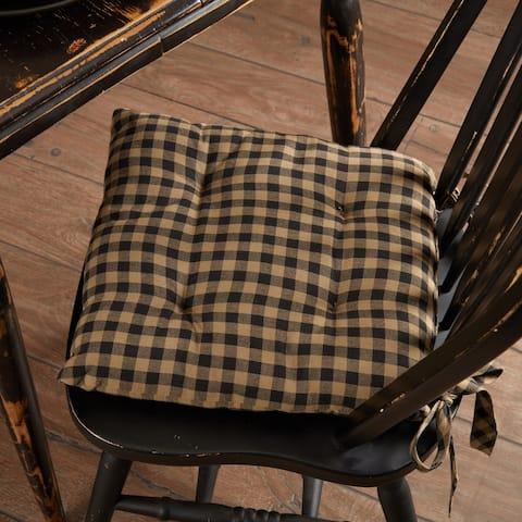 Black Check Chair Pad